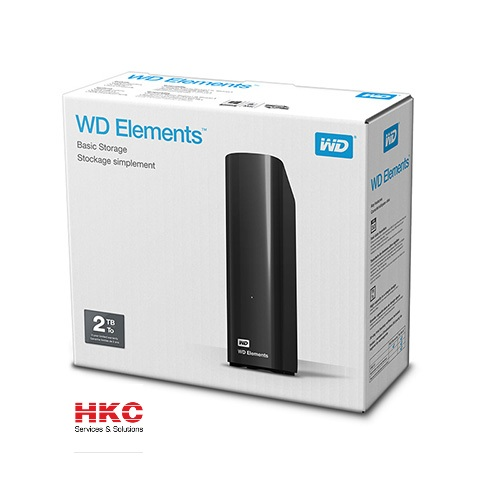 Ổ cứng ngoài WD Elements 3.5″ 2TB chính hãng