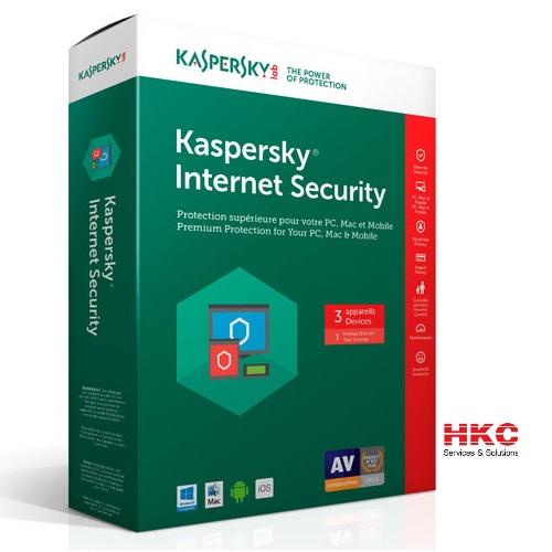 Phần mềm diệt Virus Kaspersky internet Security cho 3PC
