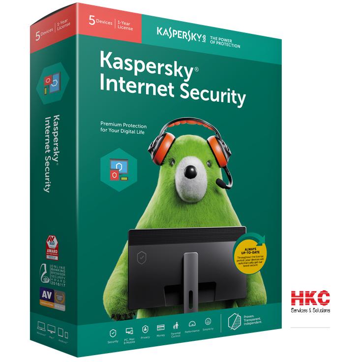 Phần mềm diệt Virus Kaspersky internet Security cho 5PC