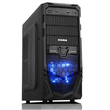 Case máy tính Sama S1 Mid Tower Đen giá rẻ