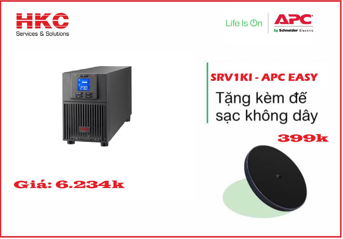 Phân phối Bộ lưu điện APC EASY UPS SRV1KI
