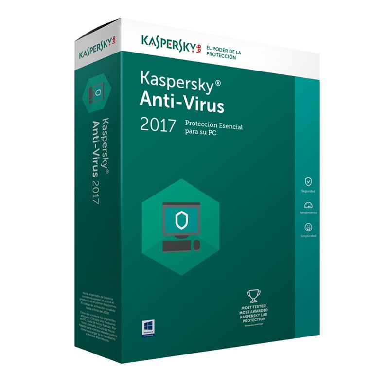 Kaspersky Anti- Virus cho 1 máy tính
