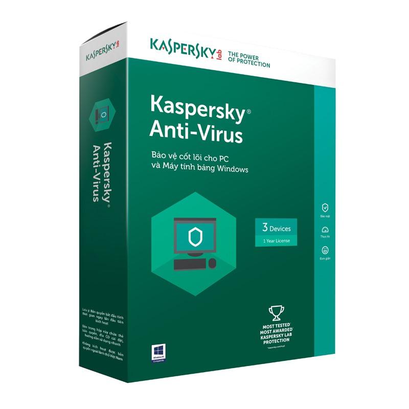 Kaspersky Anti- Virus cho 3 máy tính
