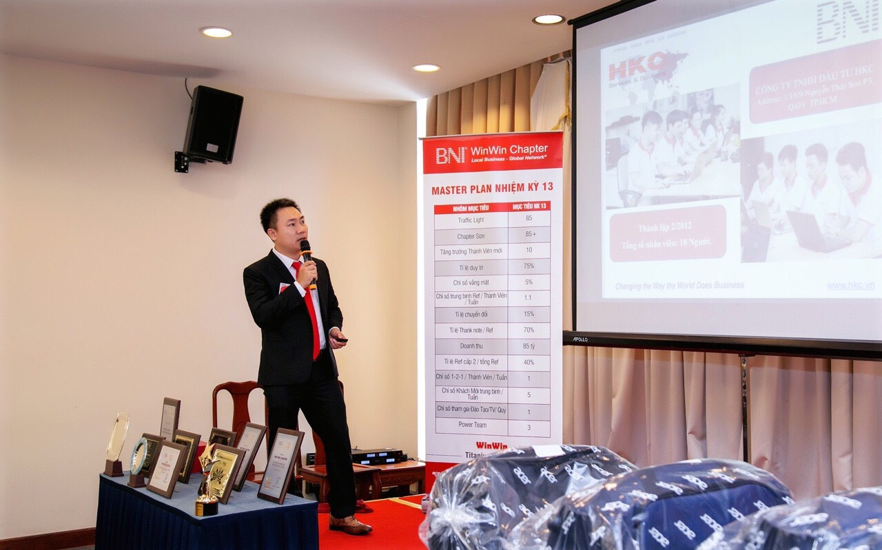 Công ty HKC Giới thiệu Doanh nghiệp đến BNI Win Win Chapter.