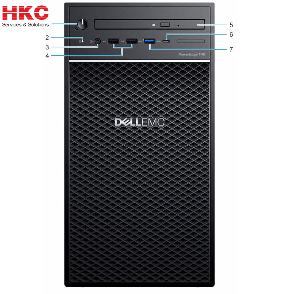 Server Dell PowerEdge T40 E-2224G/8GB/2x1TB