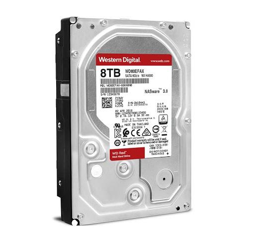 Ổ cứng HDD Western Digital Red 8TB 3.5″ SATA 3 – WD80EFAX