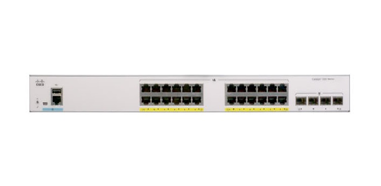 Switch Cisco Catalyst 1000-24FP-4G-L Chính Hãng