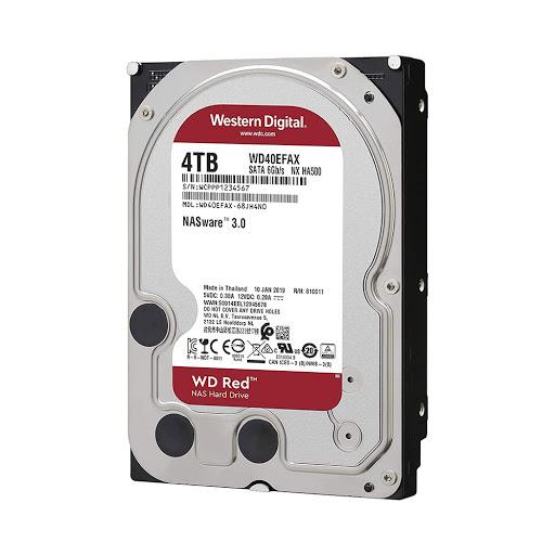 Ổ Cứng Chuyên NAS HDD WD Red 4TB Sata 3 5400rpm (WD40EFAX)