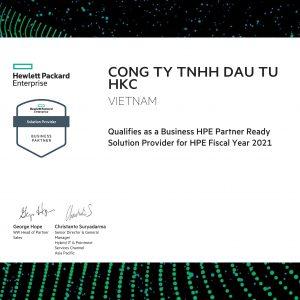 Công ty HKC vinh dự nhận chứng nhận Business HPE Partner 2021