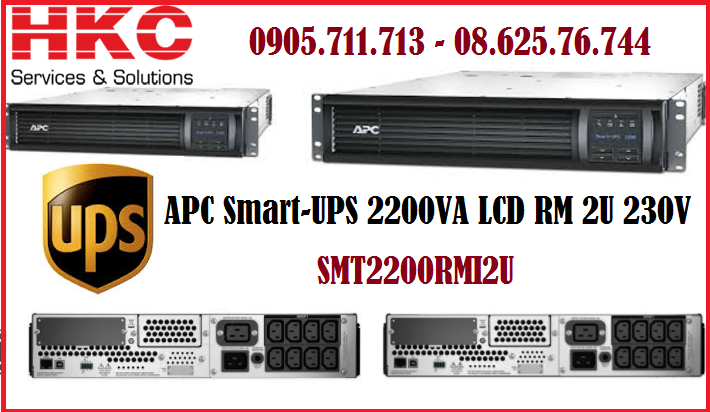 APC Smart-UPS 2200VA LCD RM 2U 230V- SMT2200RMI2U