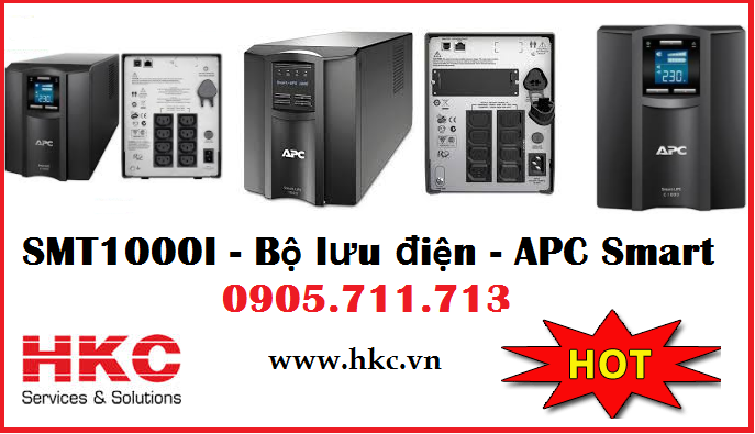 Bo luu dien UPS APC smart 1000va lcd 230v