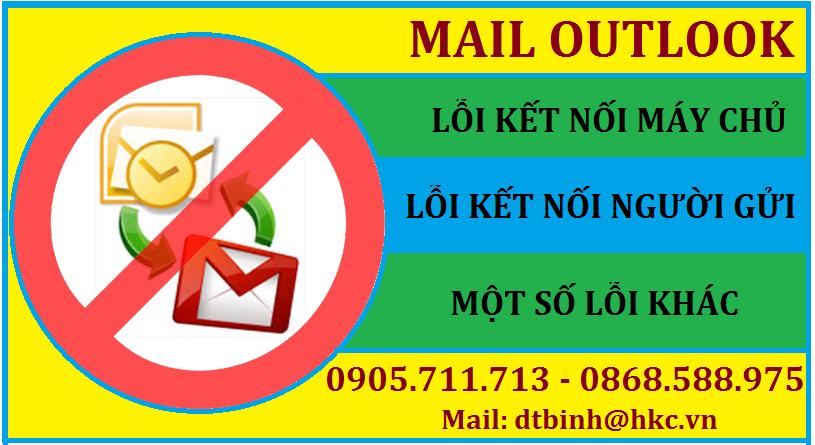Loi mail outlook khong gui duoc