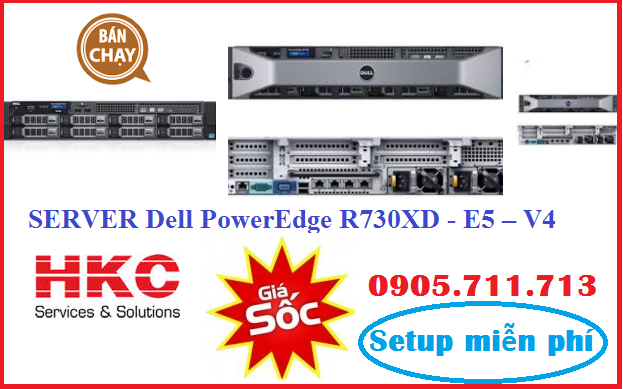 Server Dell PowerEdge R730XD - E5 – V4