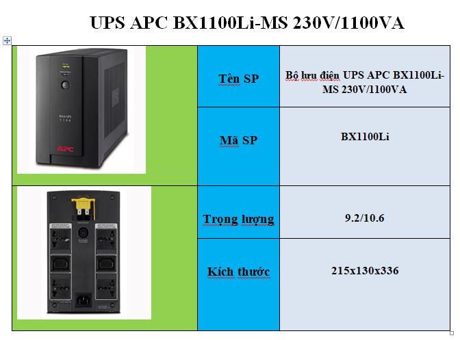 UPS APC BX1100li