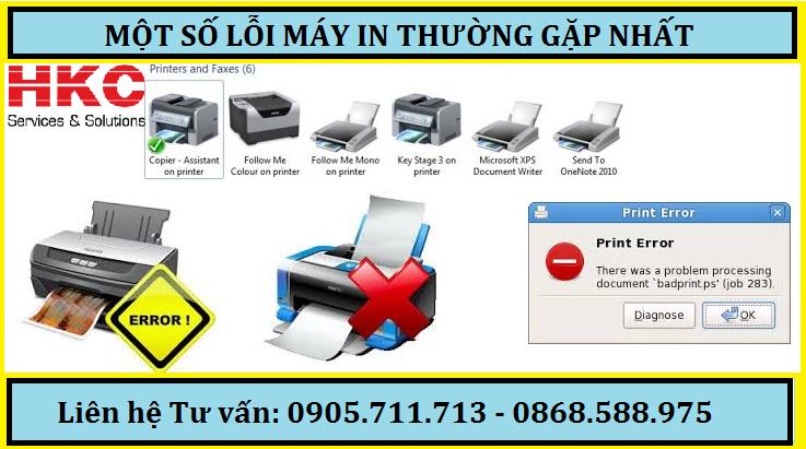 mot so loi thuong gap voi may in